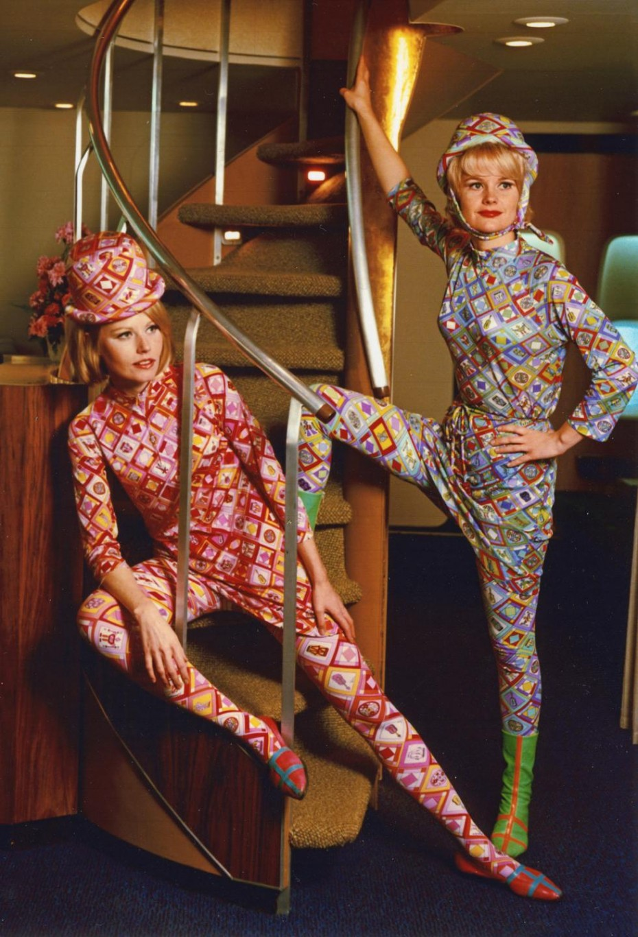 The 1960s Pucci Air Hostess Uniforms, Ideal for Mile High ...