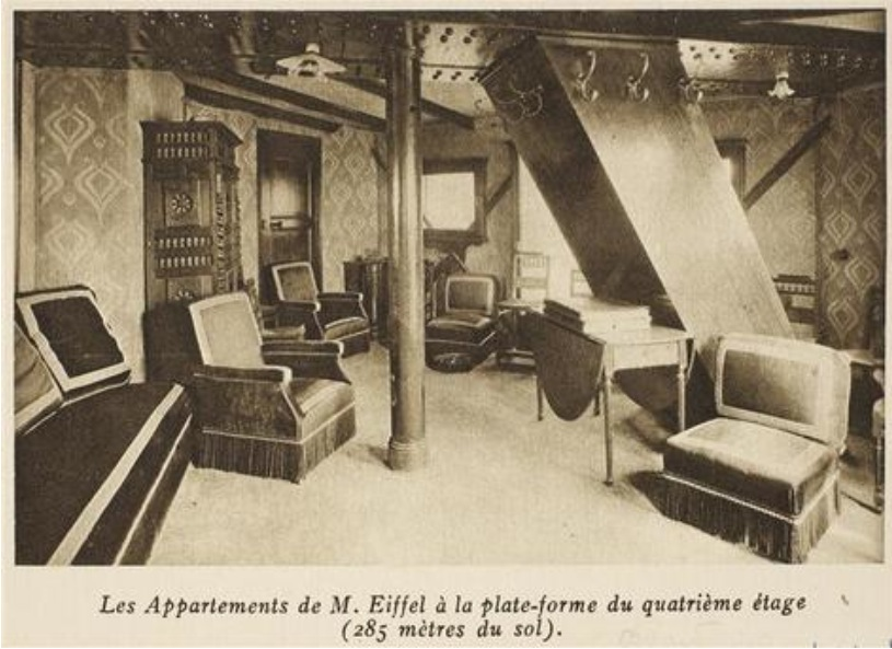 Building mr eiffel 39 s penthouse apartment a tower under Eiffel tower secret room