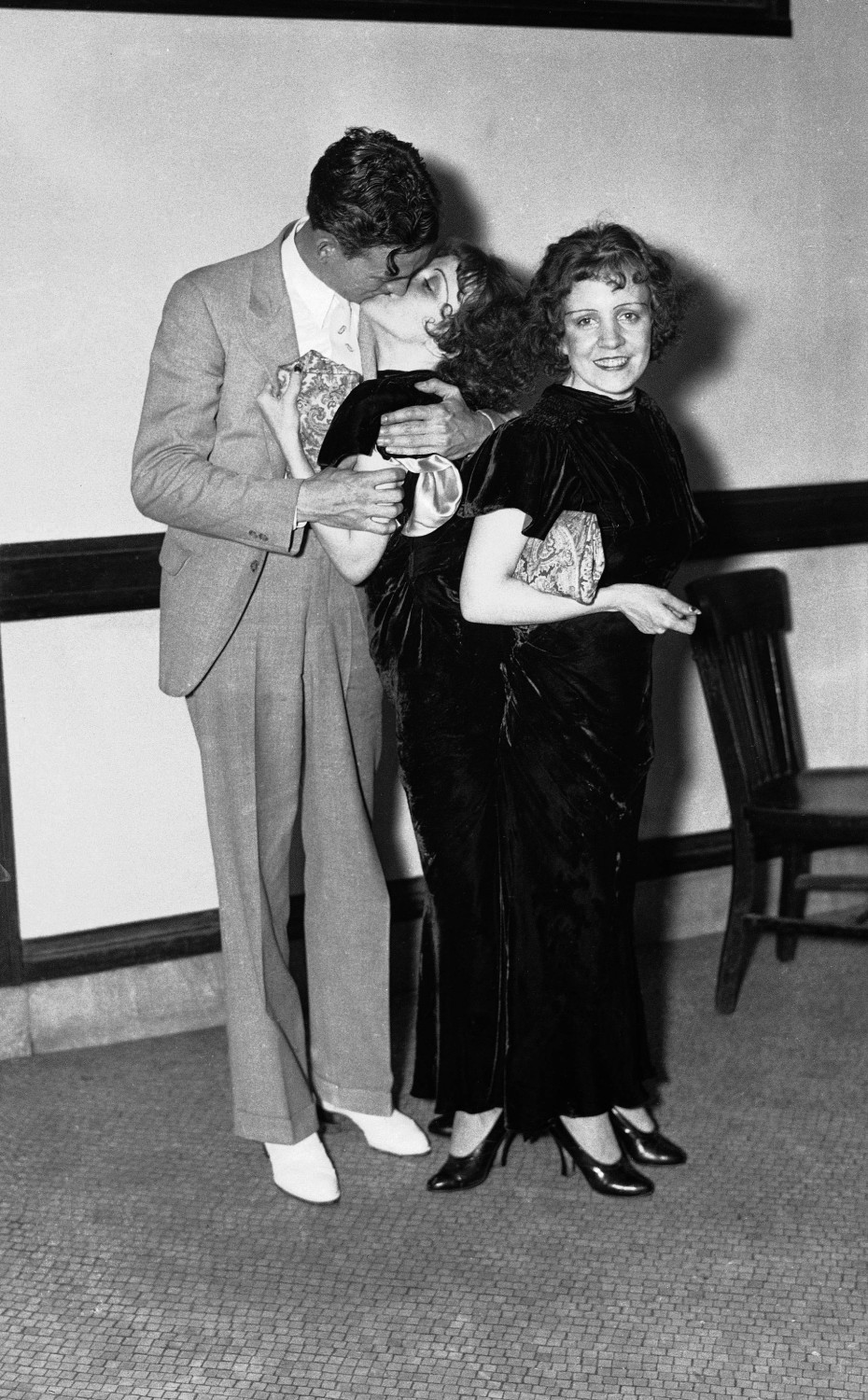 With Maurice Lambert (Violet's fiancee)