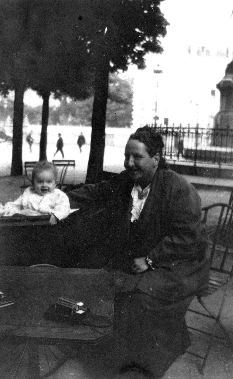 "EH 5134P John ""Bumby"" Hemingway and Gertrude Stein. Paris, 1924. Photograph in the Ernest Hemingway Photograph Collection, John F. Kennedy Presidential Library and Museum, Boston."