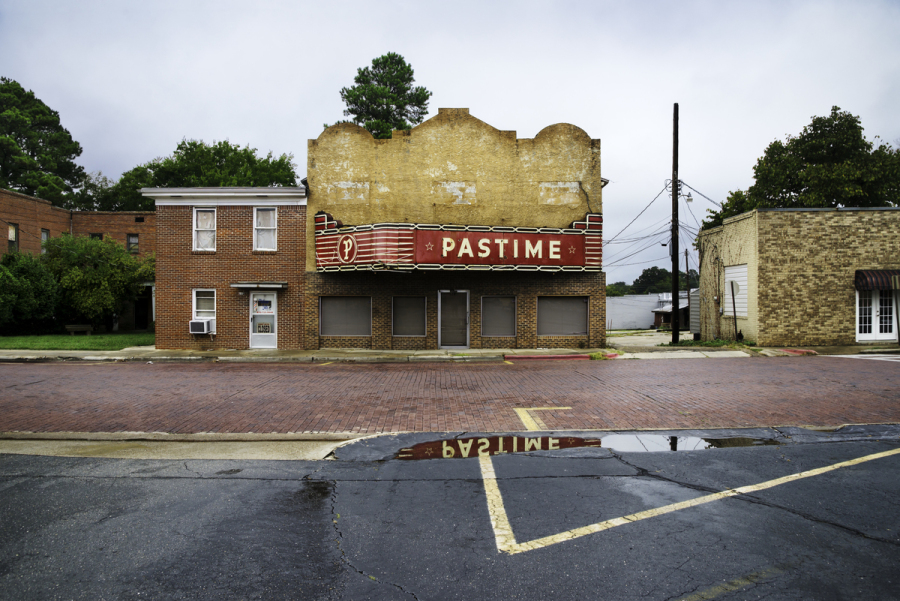 DSC_4192, Deep South, Warren, Arkansas, USA, 09/2013, USA-10914. Pastime theatre. Final Deep South selection for Smithsonian. retouched_Sonny Fabbri 11/25/2014