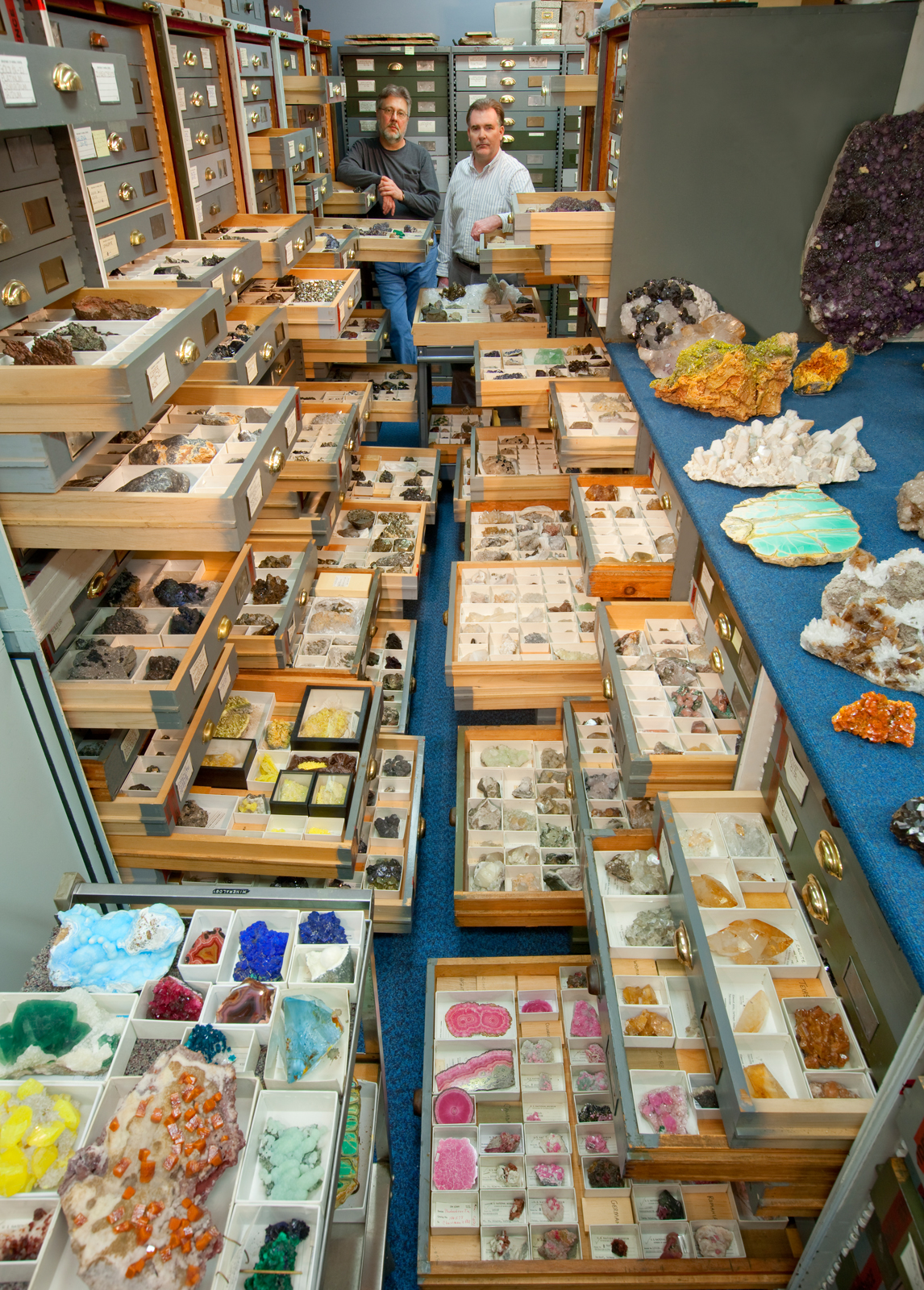 "The Mineral Sciences' ""Blue Room,"" National Museum of Natural History"