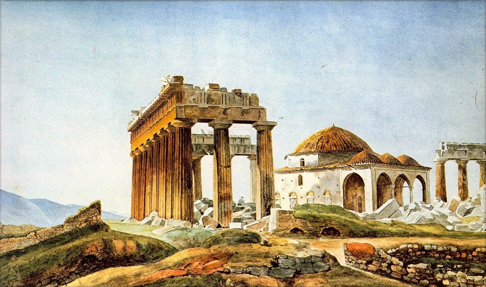Peytier_-_Mosque_in_the_Parthenon