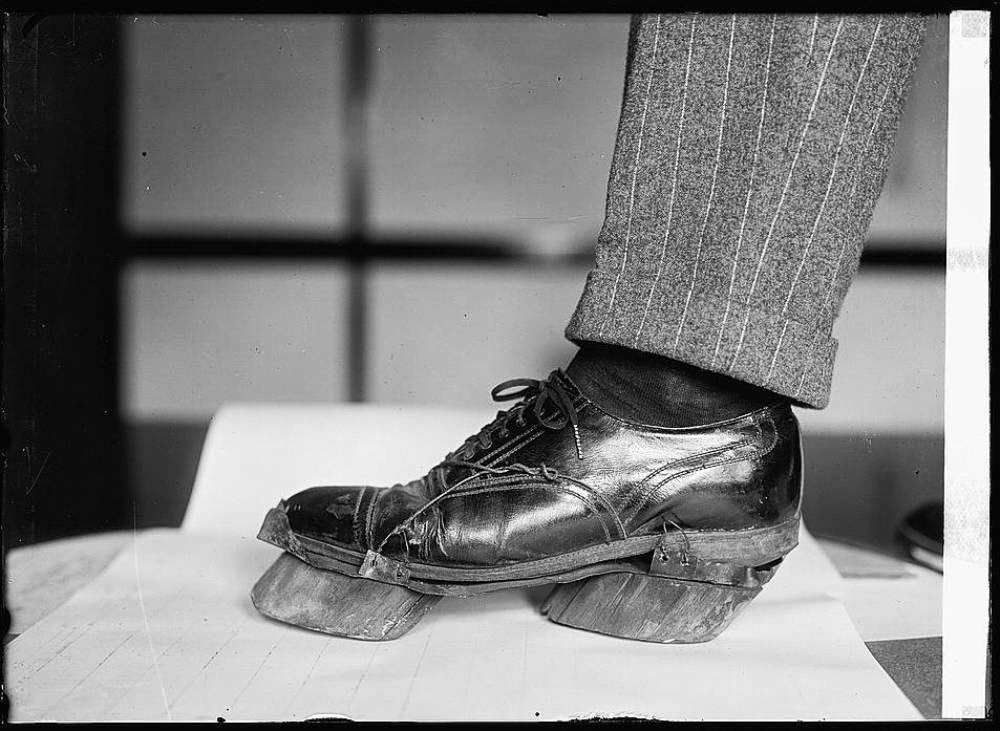 Cow shoes used by Moonshiners in the Prohibition days to disguise their footprints, 1922 1