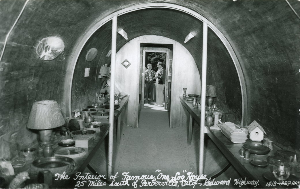 The_Interior_of_Famous_One_Log_House_Redwood_Highway_Calif_1818
