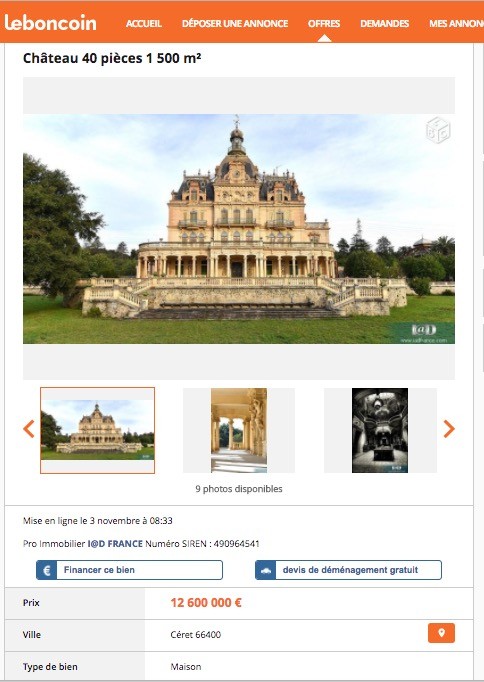 Heres Someone Selling A Belle Epoque Chateau On The French