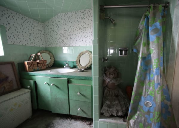 The scaled to size bathroom and full working shower in the Brick Midget House in Brick, NJ 4/30/15 (William Perlman | NJ Advance Media for NJ.com)