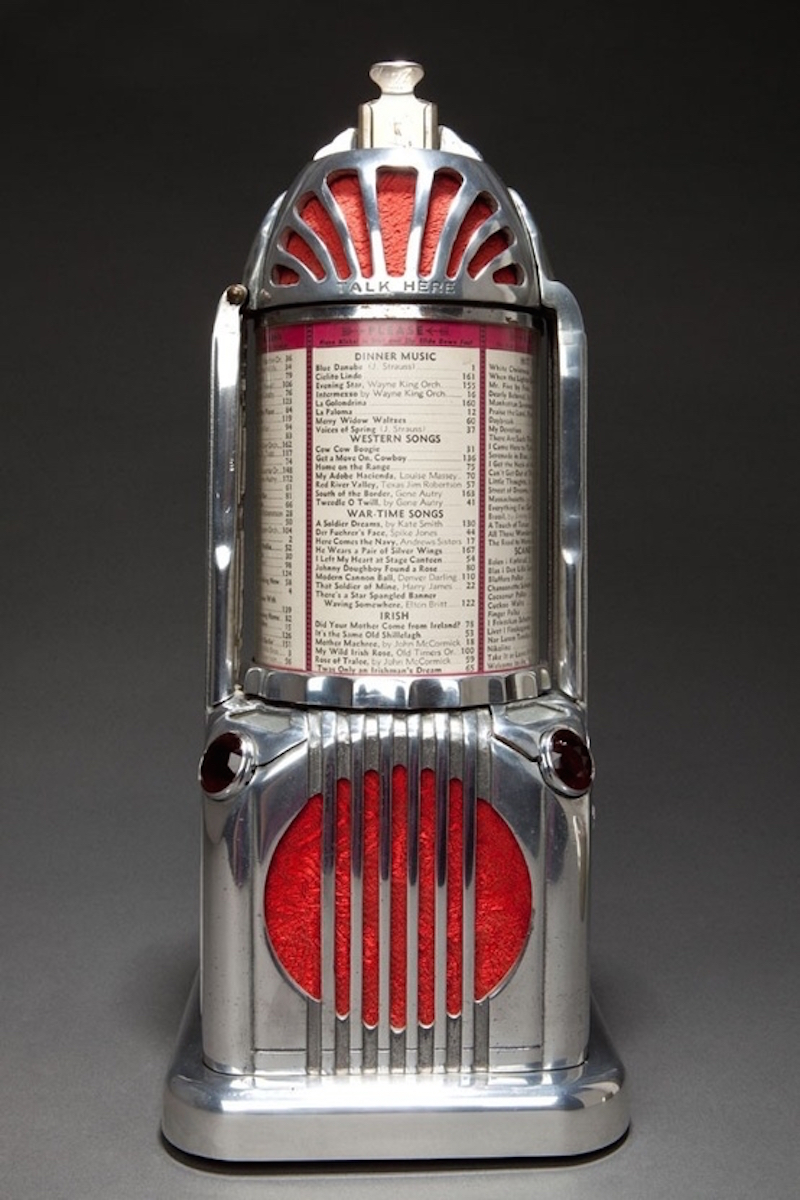 Stop Everything and Behold this Mini Art Deco Telephone Jukebox