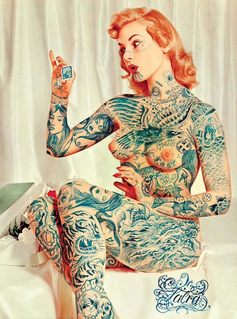 tattooed makeovers of 1950s pin up girls. Black Bedroom Furniture Sets. Home Design Ideas