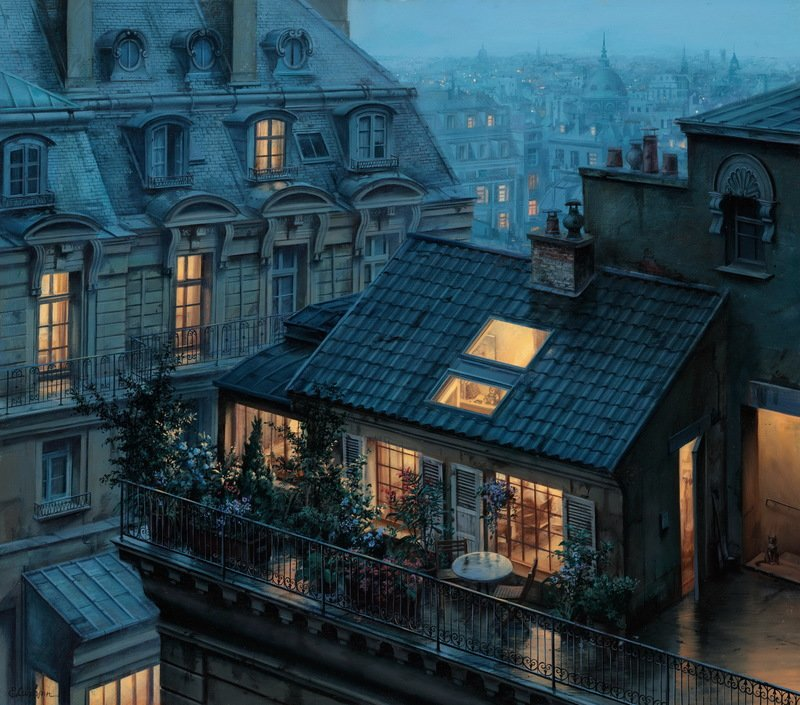 Rooftops Of Paris At Twilight (and Other Fairytales