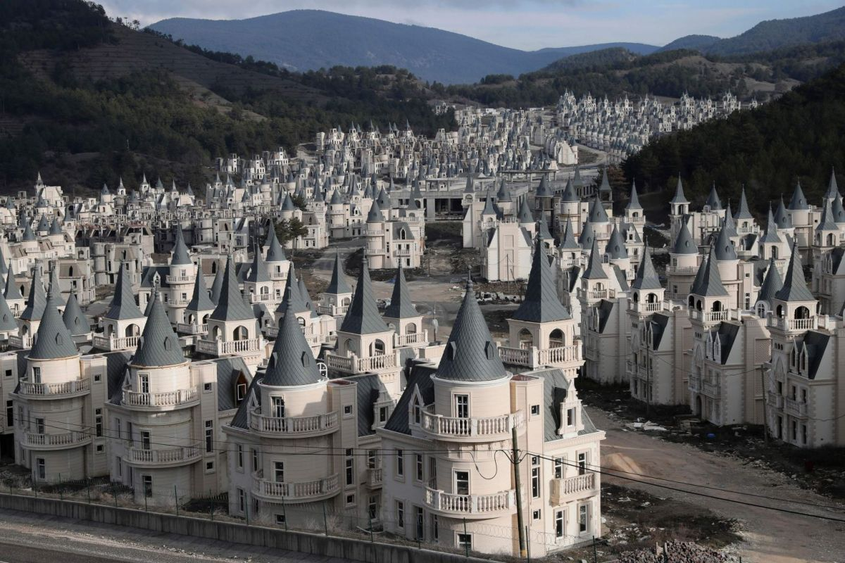 Oh, just an Utterly Insane Ghost City of Fake French Chateaux