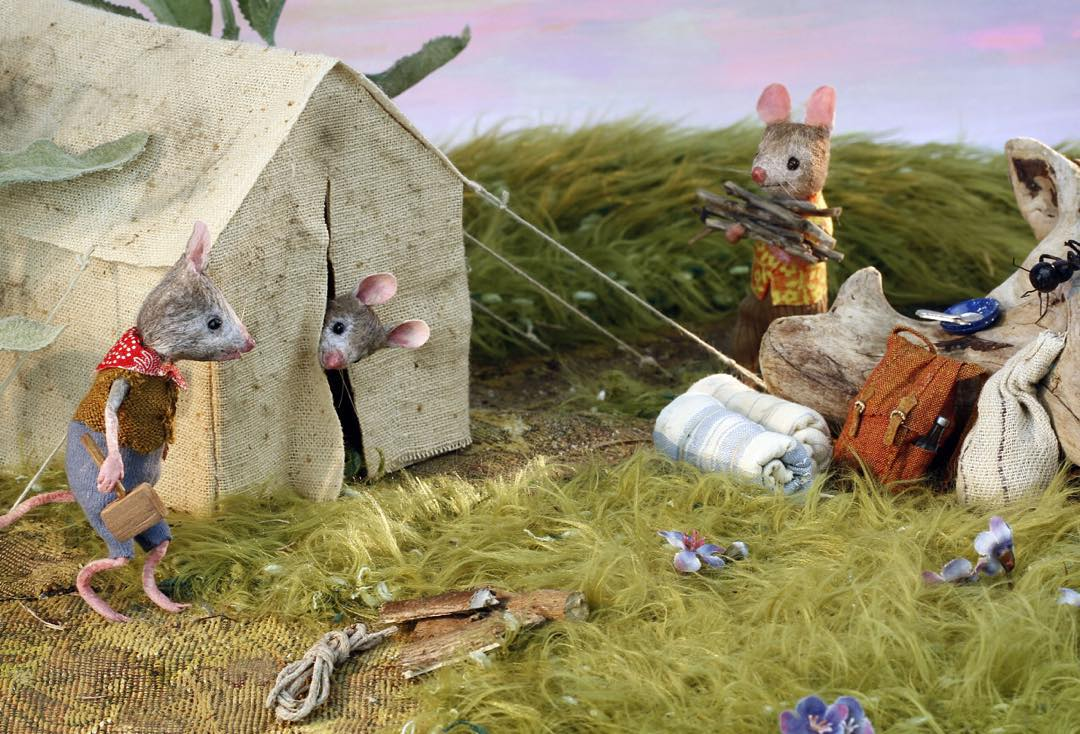 And Finally, the Miniature Mouse Village of Your Dreams