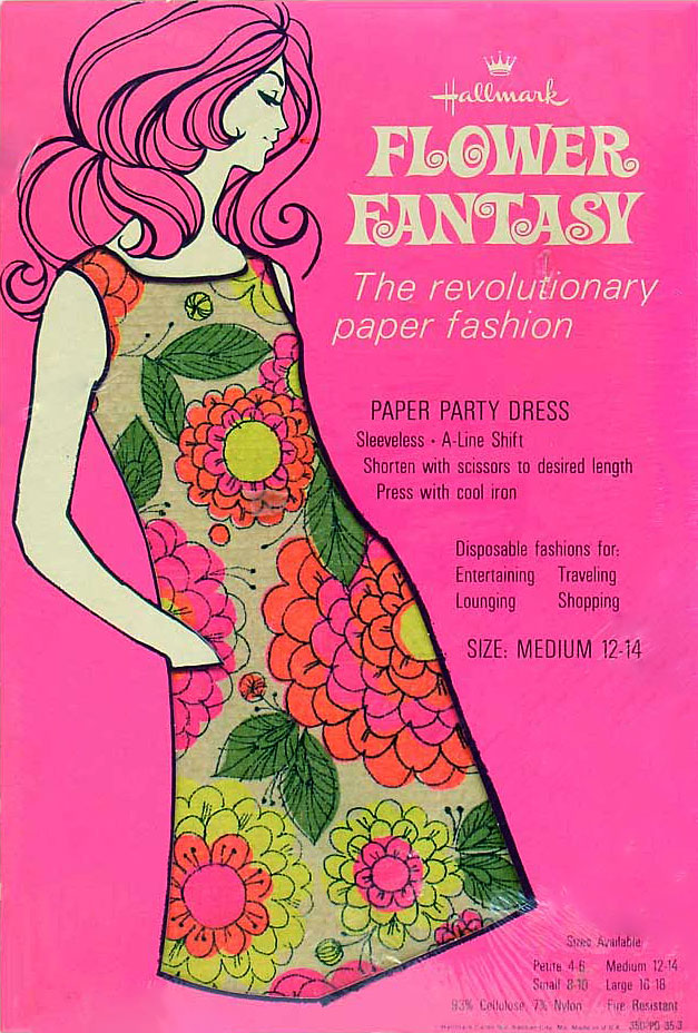 Vintage ~ Mid Century 1960s ~ Really Cool Paper Party Dress  ~ Hallmark ~ Made In The USA