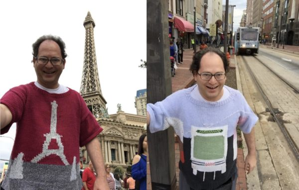 This Guy Knits 'Ugly Sweaters' for Every Place He Goes